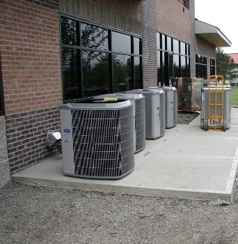 Commercial air conditioning units installed by Warnky Heating & Cooling