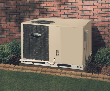Frigidaire air conditioning unit outside of home