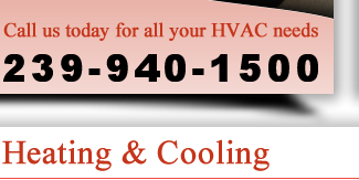 Call us today for all your HVAC needs! 239-790-4677